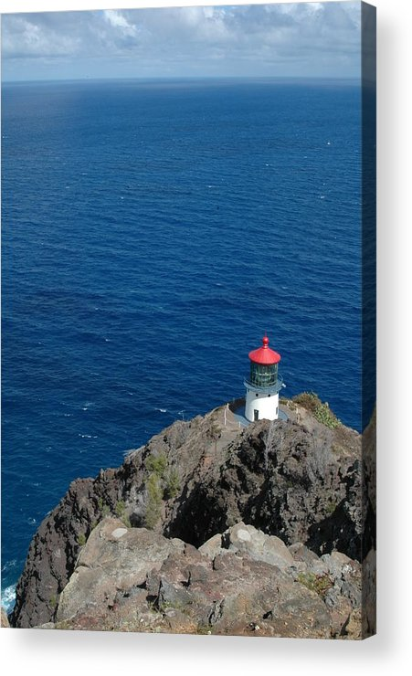 Makapuu Lighthouse Acrylic Print featuring the photograph Makapu'u Lighthouse by Kathy Schumann