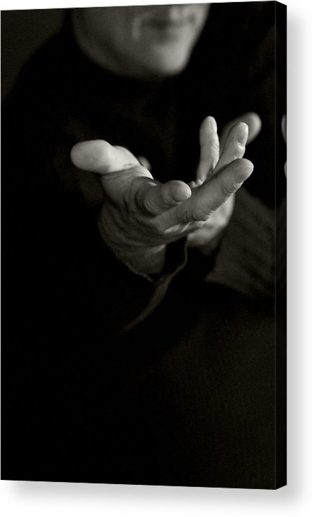 Hand Acrylic Print featuring the photograph Meistro by Sandra Sigfusson