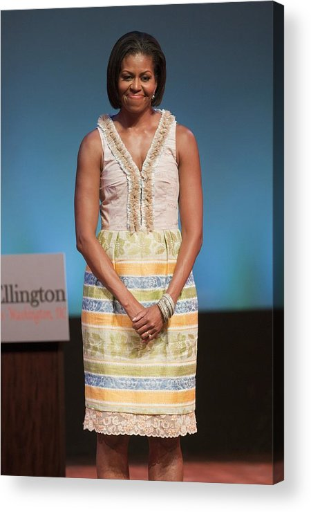 Michelle Obama Acrylic Print featuring the photograph Michelle Obama In Attendance For Lady by Everett