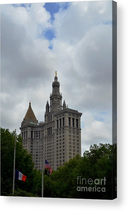 Building Acrylic Print featuring the photograph Municipal Building In New York by Pravine Chester