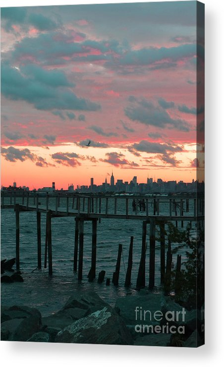 Rocks Acrylic Print featuring the photograph New York Skyline by Bella Photography