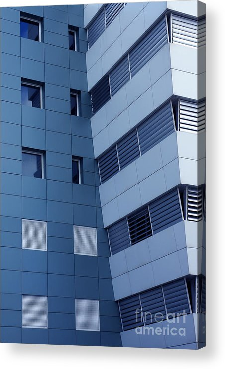 Abstract Acrylic Print featuring the photograph Office Building by Carlos Caetano