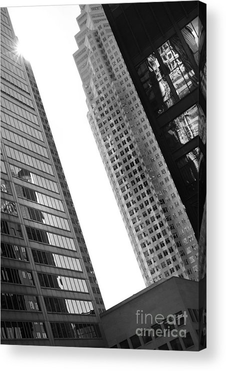 Buildings Acrylic Print featuring the photograph Office Buildings by Bryan Pereira