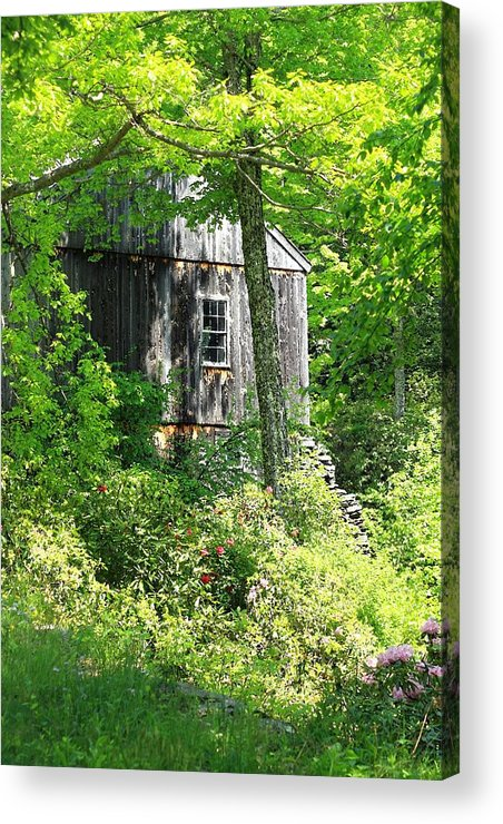 Mill Acrylic Print featuring the photograph Old Barn by Sara Walsh