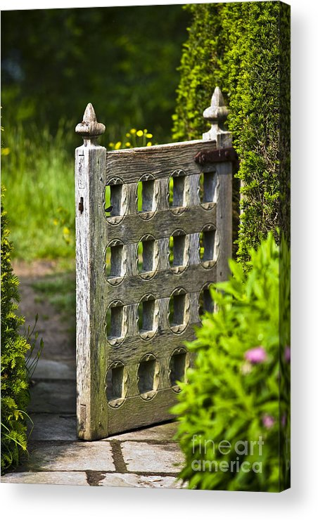 Architektur Acrylic Print featuring the photograph Old Garden Entrance by Heiko Koehrer-Wagner
