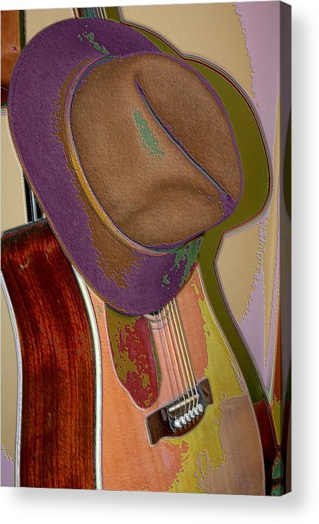 Abstract Acrylic Print featuring the photograph Old Hat by Paul Gavin