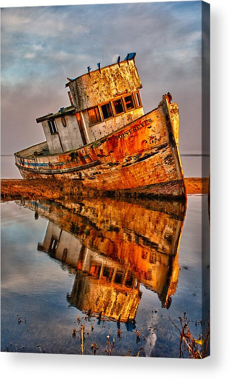 California Acrylic Print featuring the photograph Old Point Reyes by John Klingel