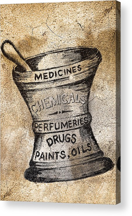 Public Acrylic Print featuring the photograph Old Time Medicine Ad by Wendy White