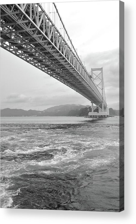 Vertical Acrylic Print featuring the photograph Onaruto Bridge by Miguel Castaneda