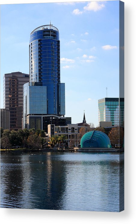 Orlando Acrylic Print featuring the photograph Orlando's Lake Eola by Rick Lesquier