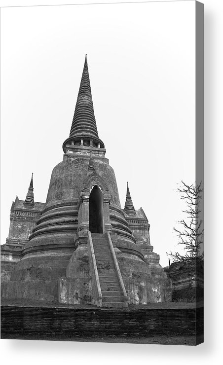 Pagoda-ancient Temple. Acrylic Print featuring the photograph Pagoda by Pitakpong Chansri
