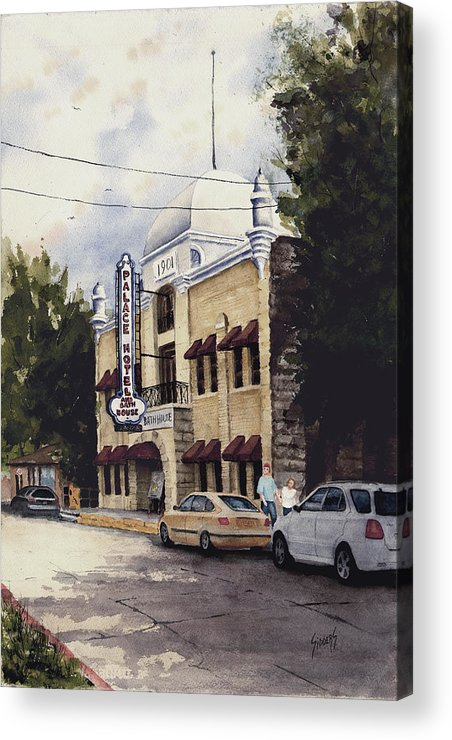 Hotel Acrylic Print featuring the painting Palace Hotel by Sam Sidders