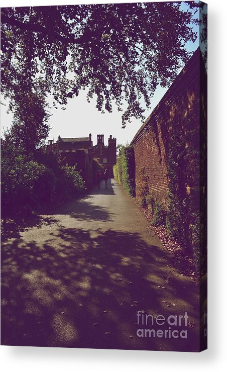 Photograph Showing A Hidden Passageway At Hampton Court Palace Acrylic Print featuring the photograph Passageway At Hampton Court Palace by Helen Esdaile