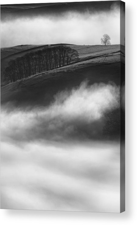 Peak District Acrylic Print featuring the photograph Peak District Landscape by Andy Astbury
