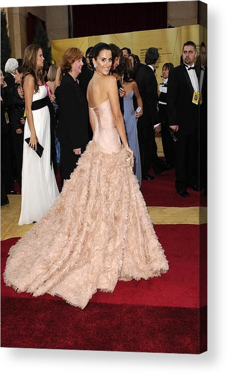 Oscars 79th Annual Academy Awards - Arrivals Acrylic Print featuring the photograph Penelope Cruz Wearing Atelier Versace by Everett