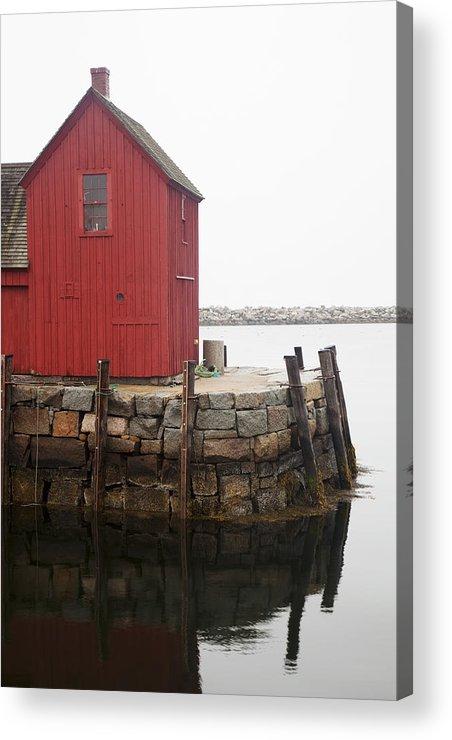 Atlantic Acrylic Print featuring the photograph Pockport Harbor by Jenna Szerlag