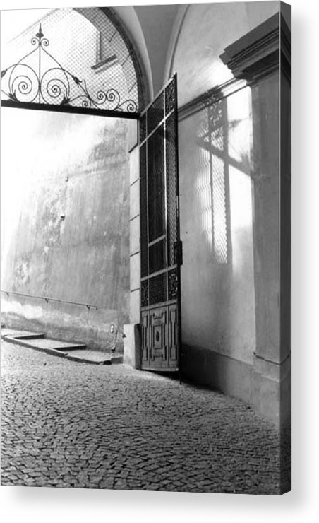 Prague Acrylic Print featuring the photograph Prague Gate by Sarah Vandenbusch