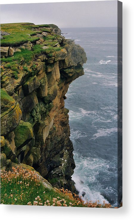 Cliffs Acrylic Print featuring the photograph Quilver Taing by Steve Watson