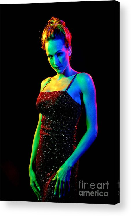 Model Acrylic Print featuring the photograph Rainbow 3-2 by Gary Gingrich Galleries
