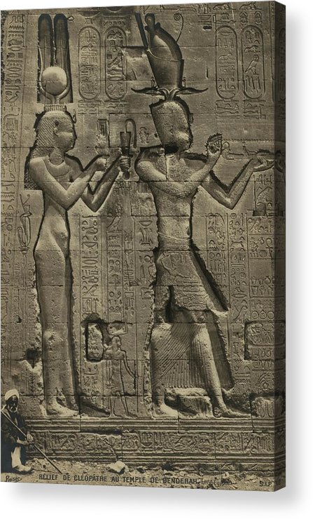 History Acrylic Print featuring the photograph Relief Sculpture Of Cleopatra Vii 69-30 by Everett