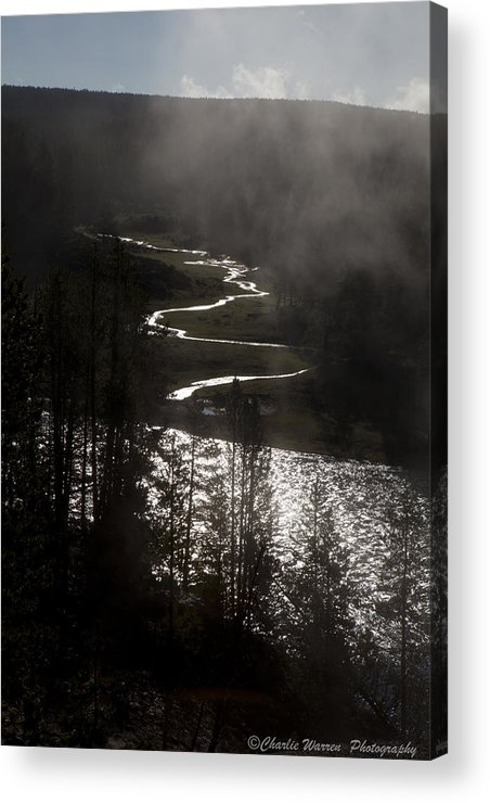 River Acrylic Print featuring the photograph River Of Silver by Charles Warren