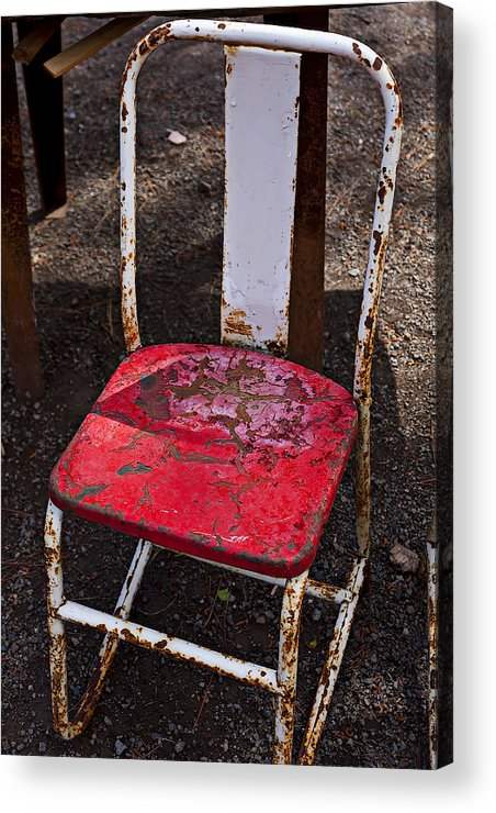Chair Acrylic Print featuring the photograph Rusty Metal Chair by Garry Gay