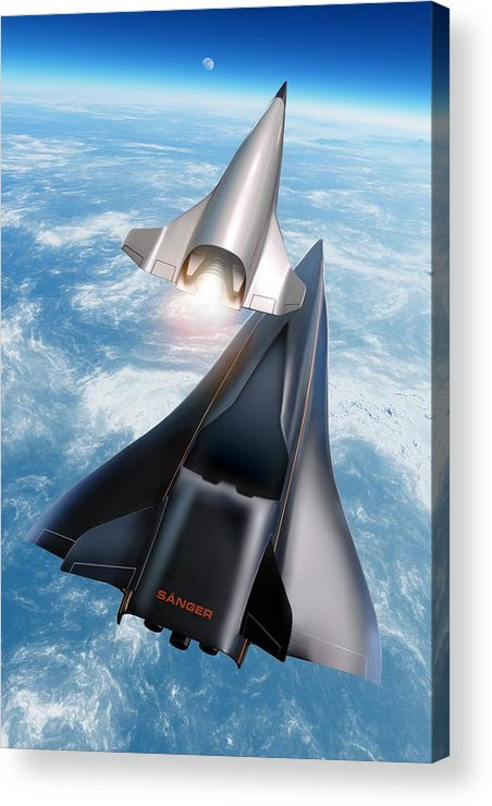 21st Century Acrylic Print featuring the photograph Saenger Horus Spaceplane, Artwork by Detlev Van Ravenswaay