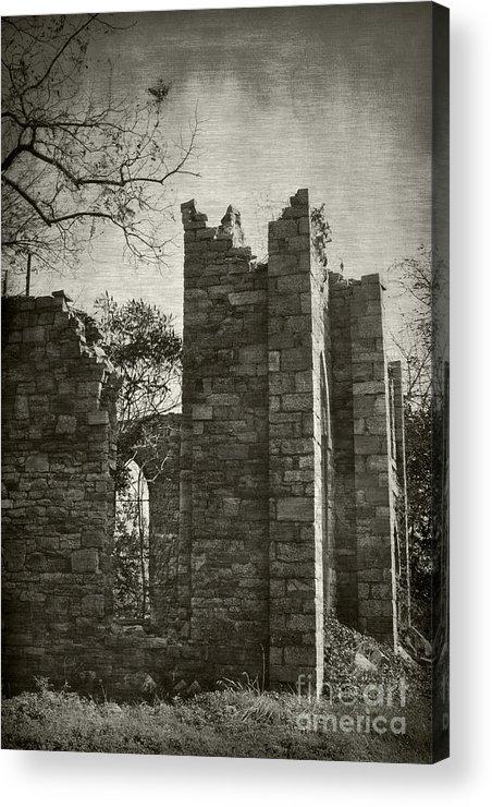 Ruins Acrylic Print featuring the photograph Saint Johns Chapel Three by Susan Isakson