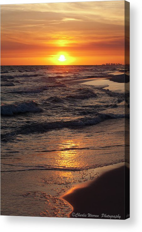 Sunset Acrylic Print featuring the photograph Seaside Serenade I by Charles Warren