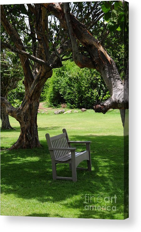 Bench Acrylic Print featuring the photograph Serenity by Bella Photography