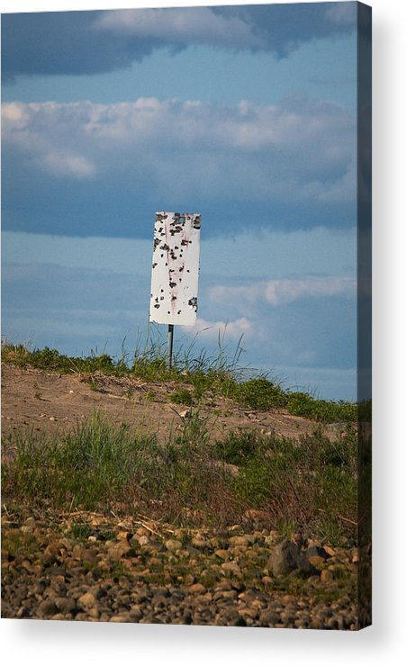 Jouko Lehto Acrylic Print featuring the photograph Sign At The Gulf Of Bothnia by Jouko Lehto