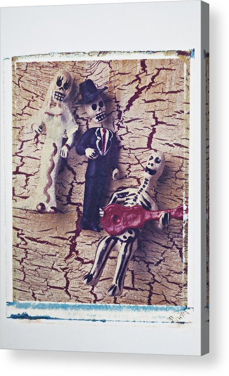 Skeleton Acrylic Print featuring the photograph Skeleton Bride And Groom by Garry Gay