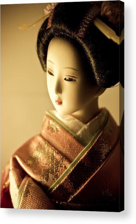 Adult Acrylic Print featuring the photograph Smile Of Geisha by Natapol Chananuwong
