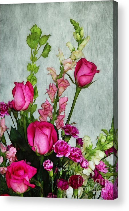 Roses Acrylic Print featuring the photograph Spray Of Flowers by Judi Bagwell
