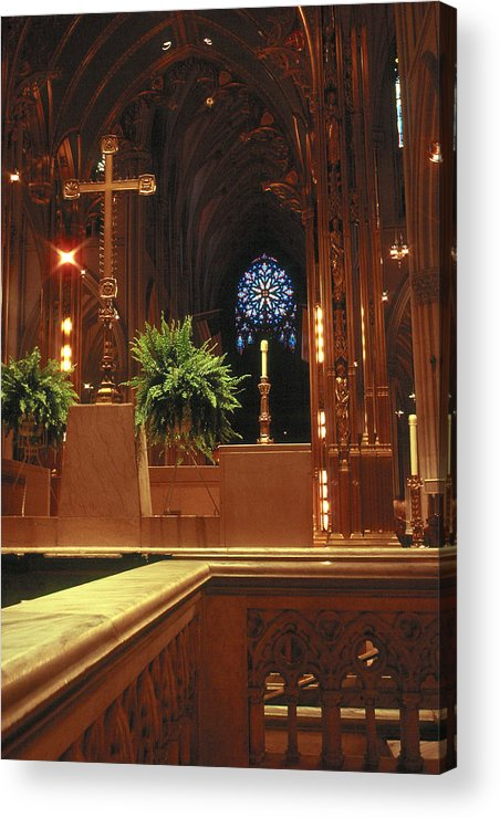 Churches Acrylic Print featuring the photograph St. Patrick's Cathedral by Cornelis Verwaal