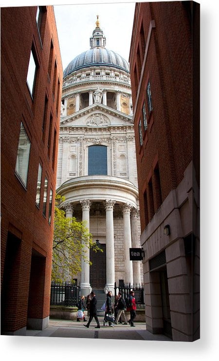Architecture Acrylic Print featuring the photograph St Paul Cathedral by Svetlana Sewell
