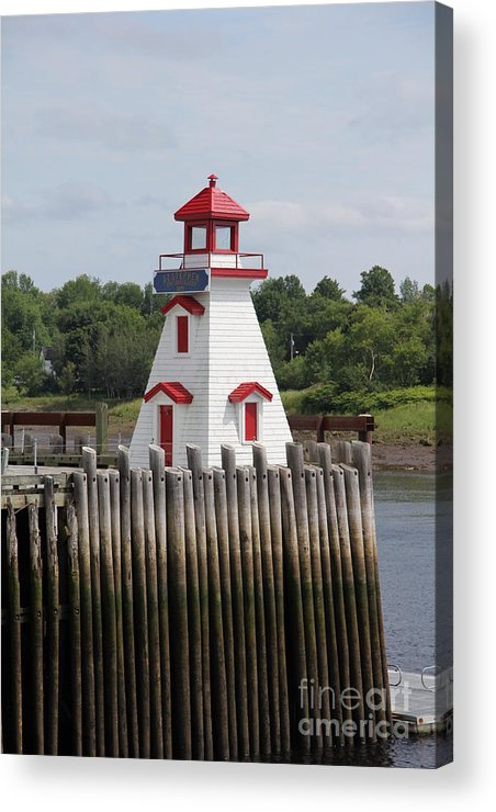 St. Stephen Lighthouses Acrylic Print featuring the photograph St Stephens by Diane Greco-Lesser