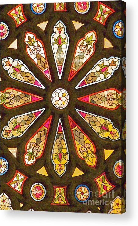 Stained Glass Acrylic Print featuring the photograph Stained Glass by Robert Pearson