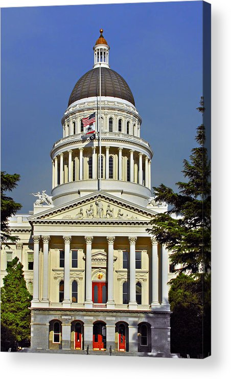 California Acrylic Print featuring the photograph State Capitol Building Sacramento California by Christine Till