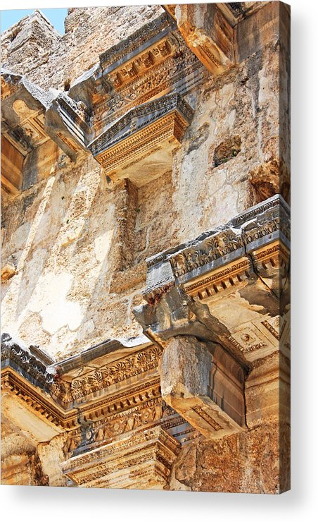 Stone Acrylic Print featuring the photograph Stone Wall by Angela Siener