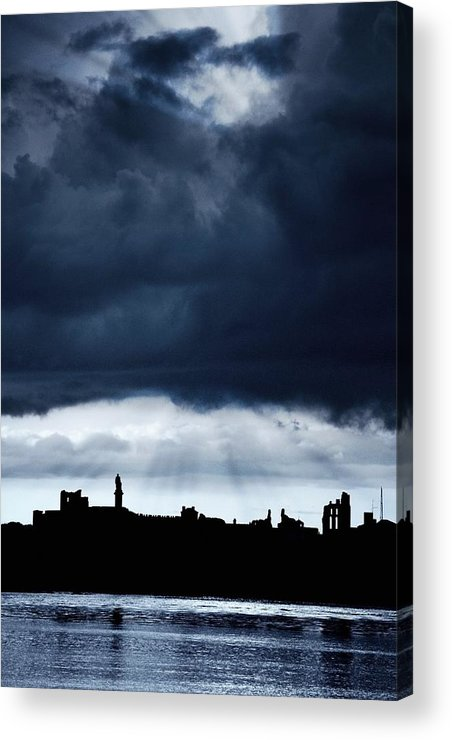 Color Acrylic Print featuring the photograph Storm Over City, Tyne And Wear, England by John Short