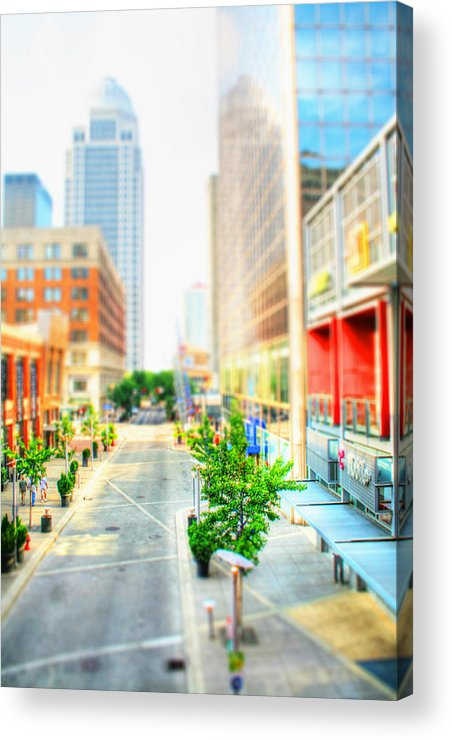 Architecture Acrylic Print featuring the photograph Street's Of Louisville by Darren Fisher