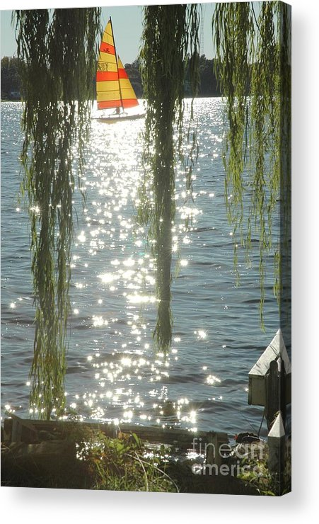 Photography Acrylic Print featuring the photograph Summer Sail by Kelly Morrow