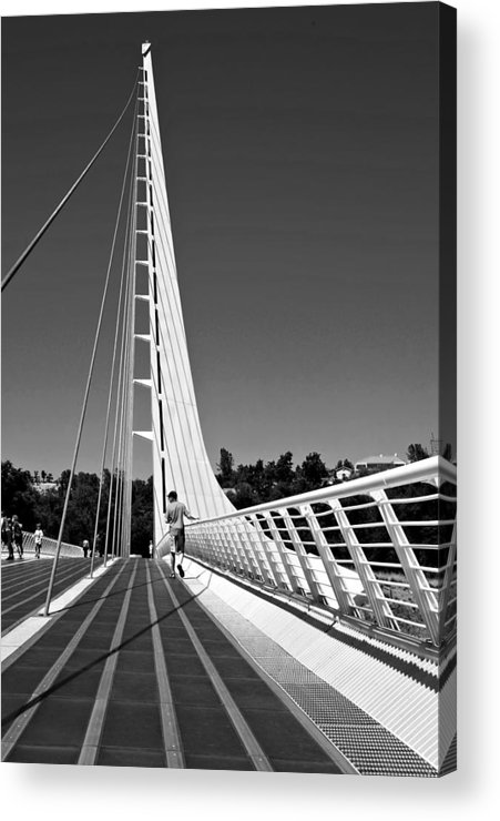 Architectural Photography Acrylic Print featuring the photograph Sundial Bridge Two by Andre Salvador