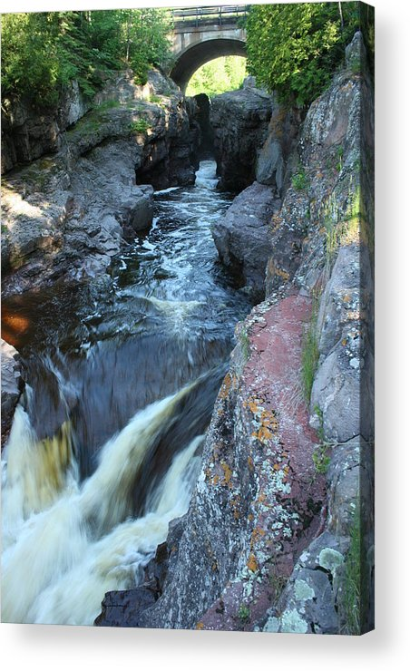 Acrylic Print featuring the photograph Temperance River Bridge 1 by Joi Electa