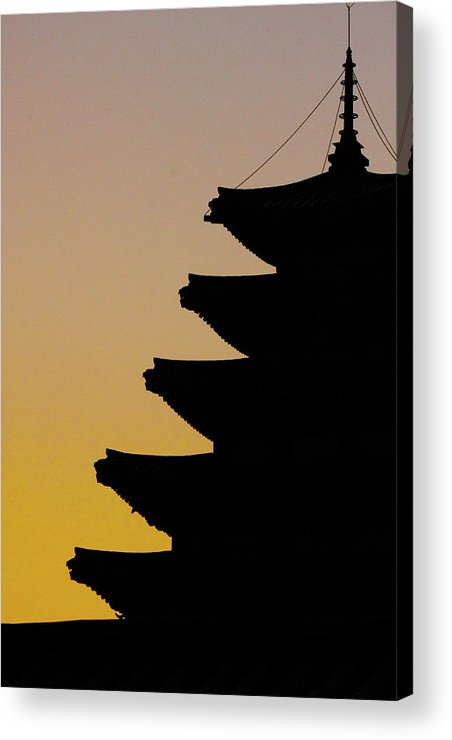 Vertical Acrylic Print featuring the photograph The Pagoda At Gyeongbukgong In Seoul by Photography by Simon Bond