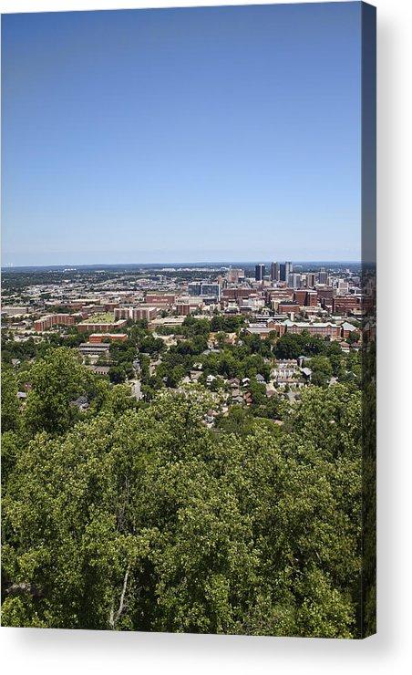Birmingham Acrylic Print featuring the photograph The Southern City Of Birmingham Alabama by Kathy Clark