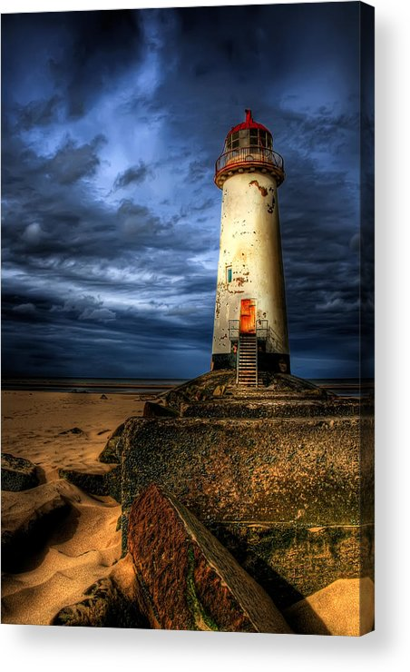 Beach Acrylic Print featuring the photograph The Talacre Lighthouse by Adrian Evans