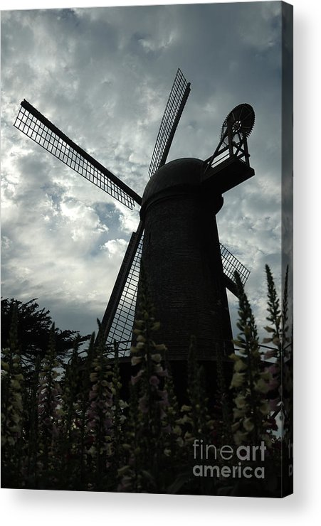Windmill Acrylic Print featuring the photograph The Windmill by Nancy Greenland