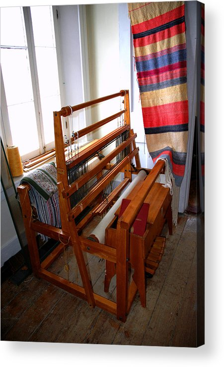 Usa Acrylic Print featuring the photograph Traditional Weavers Loom by LeeAnn McLaneGoetz McLaneGoetzStudioLLCcom